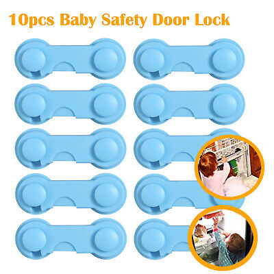 10PCS Child Kids Safety Cabinet Door Fridge Drawer Cupboard lock Adhesive Lock