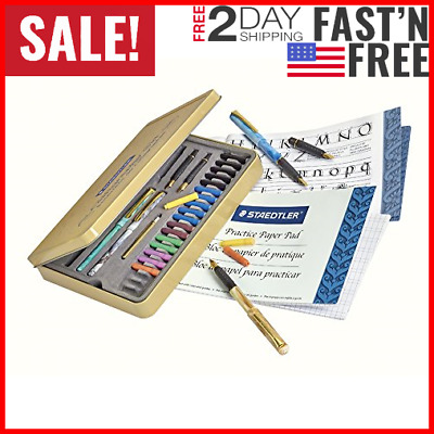 Calligraphy Pen Set Starter Kit Letters Ink Cartridge Practice Pad Included