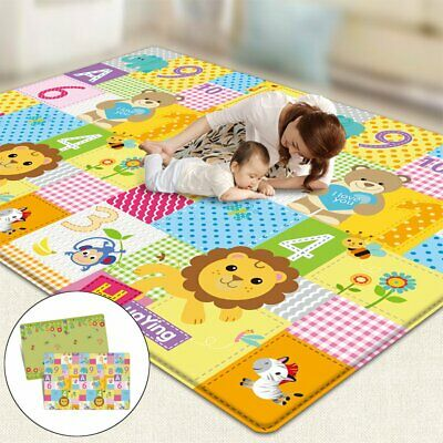 AU 200x180cm Baby Kids Crawling Carpet Play Cover Mat Game Rug Waterproof Floor