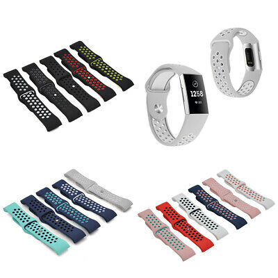 For Fitbit Charge 3/3 SE Bands Sports Silicone Breathable Replacement Women Men