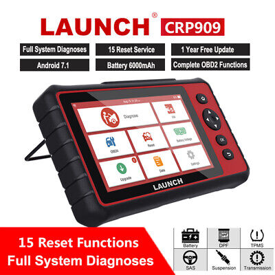 Launch CRP909 Automotive OBD2 Full System Touch Screen Tablet Diagnostic Tool US