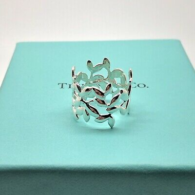 Tiffany & Co. Sterling Silver 925 Paloma Picasso Olive Leaf Ring Size 6.5