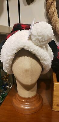 Disney Parks 2019 Christmas Mickey Mouse Plaid Santa Hat New With Tags