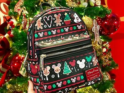 Disney Parks Holiday Snacks Christmas Loungefly Backpack 2019 ~ NWT