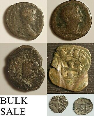 Cyber Monday - Wholesale Lot of Ancient Roman and Medieval Coins, Free Shipping