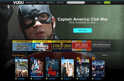 $40.00 in VUDU Movie Credits Gift Card Free Shipping