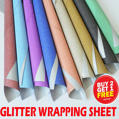 Glitter sparkle gift wrapping PAPERS perfect for Christmas- 69x49cm-Mix Color