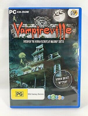 Vampireville - PC CD-Rom hidden object computer game Rated PG