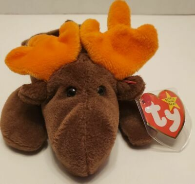 Ty Beanie Baby~#4015~Chocolate The Moose~5th Generation~Good Heart Tag~AA