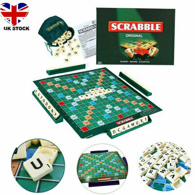 Original Scrabble Board Game Family Kids Adult Educational Toys Puzzle Game Xmas