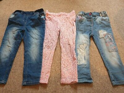 Girls Age 2-3 Trouser And Jeans Bundle Various Brands