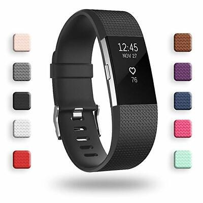 For Fitbit Charge 2 Wrist Strap Replacement Silicone Gel Rubber Watch Band Belt