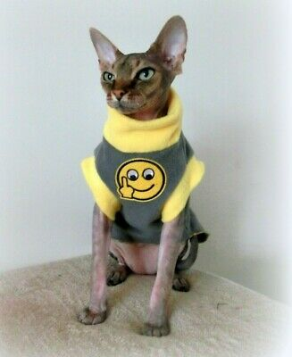FINGER small adult, winter Sphynx cat clothes, cat sweater, PETERBALD, devon
