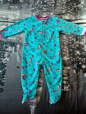 BNWOT Girls 18-24 Month Winter Fleece Warm Babygrow Pyjamas All In One