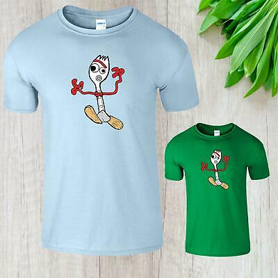 Toy Story 4 Inspired Fork Forky Mens Kids T-Shirt Adults Boys Woody Buzz Top