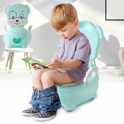 Kids Toilet Seat Baby Toddler Training Potty Trainer Safety Fun Chair Blue