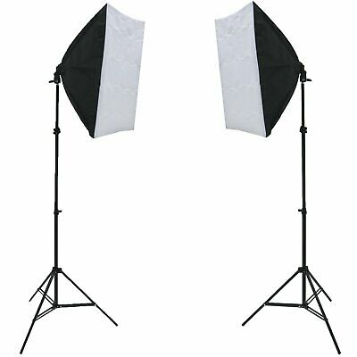 NEW! 150W Photography Studio Continuous Softbox Lighting Kit w/ Adjustable Stand