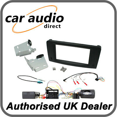Connects2 CTKMB22 Mercedes ML 2005> 2011 Fibre Amp Black Double DIN Radio Kit