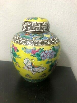 Antique Chinese Early 1900s Qing or Republic Famille Rose style Lidded Jar