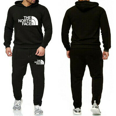 Mens Tracksuit Set Hoodie Sweat Pants Bottoms Jogging Jogger Pullover Track Suit