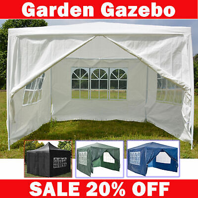 3m x 3m 4m 3x6m White Waterproof Outdoor Garden Gazebo Party Tent Marquee Canopy