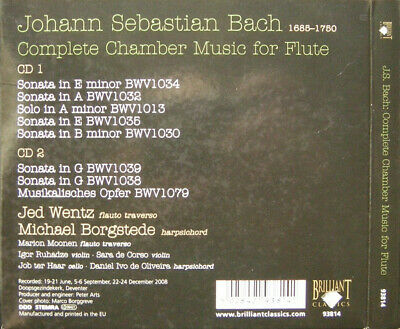 Johann S. Bach, Jed Wentz, Michael Borgstede -  Complete Chamber music for flute
