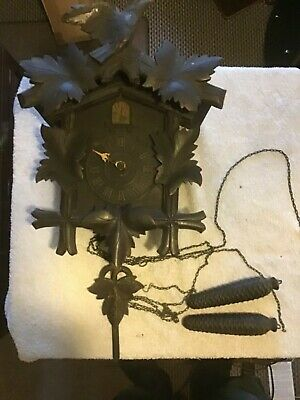 Antique vintage cuckoo clock