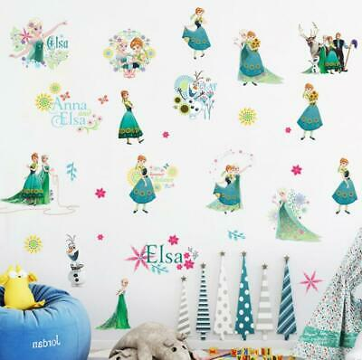 disney PRINCESS FROZEN ELSA ANNA  WALL STICKER DECAL  NURSERY/KIDS/GIRLS ROOM
