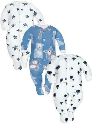 SIBINULO Baby Boys Girls Sleepsuit with ABS Mix Pack of 3 Balloons...