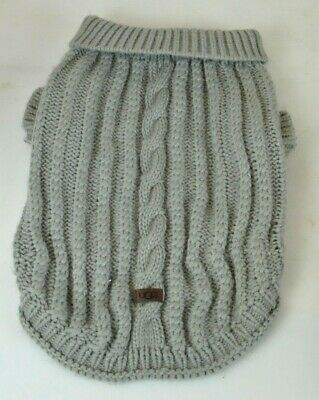 Gray Cable Knit Cat / Dog Pet Winter Sweater by UGG size Large
