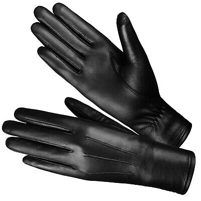Women Winter Genuine Leather Dress Gloves Driving Winter Fashion Warm Thinsulate
