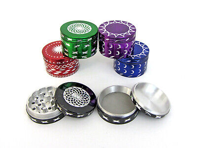 60mm Herb Grinder 4 Piece Pollinator Moon Diamond Cut Spice crusher Many Colour