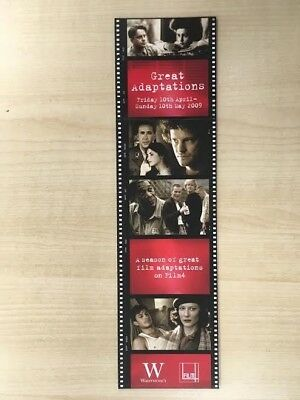 Channel 4 Great Adaptations themed cardboard bookmark