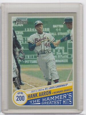 2019 Topps Heritage High Number Hank Aaron The Hammer's Greatest Hits Hof Thgh-5