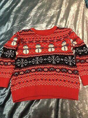 Next Boys Christmas Xmas Wrapping Jumper Red Size 4yrs matching girls avail