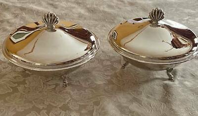 Silver Plate Serving Dishes (2) w/cover and Pyrex Insert