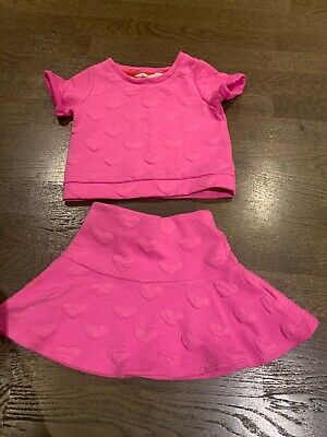 Girls H&M 2 Years Pink Skirt/top Outfit