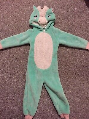 Girls Unicorn Outfit All In One Pyjamas Costume Age 3-4