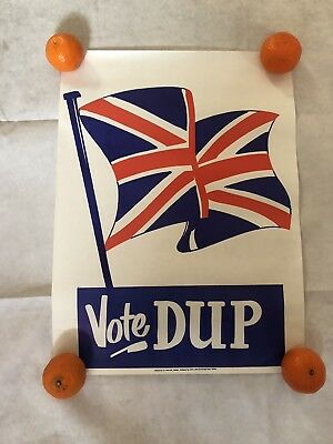 Vintage 123 DUP Unionist Ulster Election Political Poster Irish British