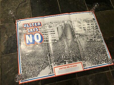 Original Ulster Says No 1985 March Unionist Political Poster British