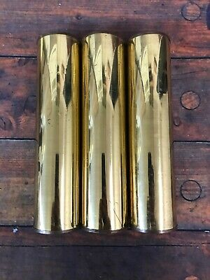 Three Large Brass Shell Grandfather Clock Weights Sligh Kienenger Triple Chime