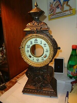 Antique-Ansonia-Statue Clock Tower & Dial-Ca.1890-To Restore-#K98Y