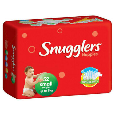 Snugglers Nappies Small  4  packs/carton  (208 nappies /carton)