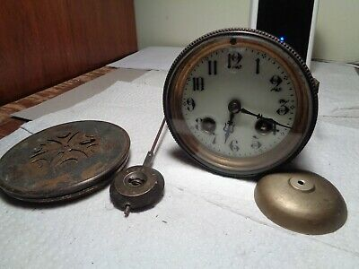"Antique-French-Clock Movement ""Marti"" Ca.1890-To Restore-#K107Y"
