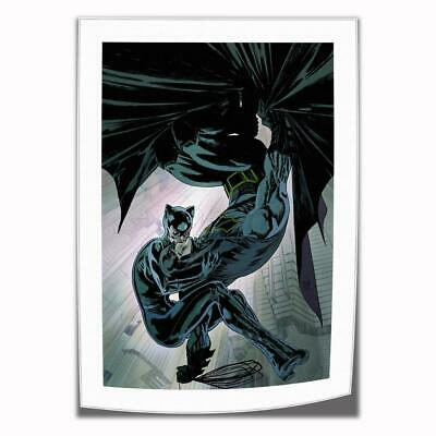 "16""x24""Catwoman and Batman Kiss HD Canvas print Home decor Room Wall Art Picture"