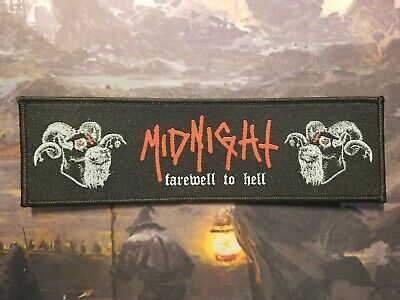 Midnight Farewell To Hell Strip Black Heavy Metal Patch Barbatos Abigail