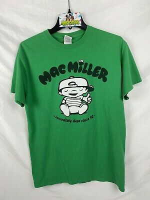 Mac Miller 2012 Incredibly Dope Since 92 Tee Medium Green Most Dope Kidz Vtg