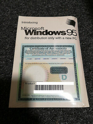 Windows 95 OS OEM disc + The Works Companion 2 CDs BRAND NEW NEVER USED