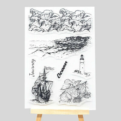 Ocean Waves Clear Silicone Stamp Rubber Stamps DIY Scrapbooking Making Card Gift