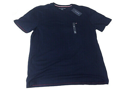 Tommy Hilfiger T-Shirt Mens Crew Neck Tee Size XL Navy Classic Fit Short Sleeve